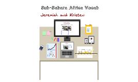 Sub-Sahara Vocabulary