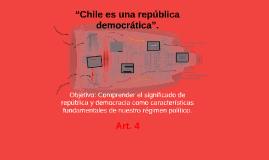 """Copy of """"Chile es una república democrática""""."""