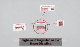 Pagbasa at Pagsulat sa Iba't ibang Disiplina
