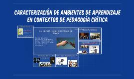 Caracterización de ambientes de aprendizaje en contextos de