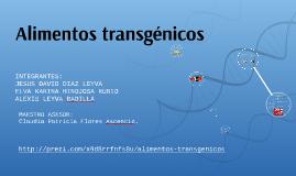 Alimentos transgénicos. Presentación