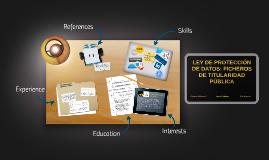 LEY DE PROTECCIÓN DE DATOS: FICHEROS DE TITULARIDAD PÚBLICA
