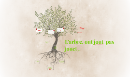 L' arbre n' est pas un jouet .