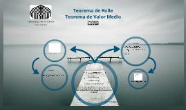 Teorema de Roll y Teorema de Valor Medio