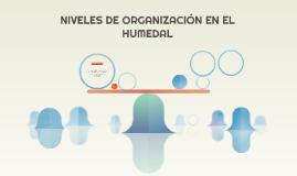 NIVELES DE ORGANIZACIÓN EN EL HUMEDAL