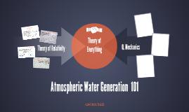 AtmosphericWaterGeneration Physics 101