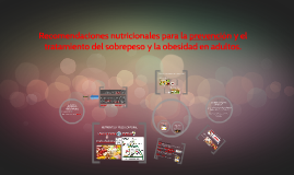 Recomendaciones nutricionales para la prevención y el trata