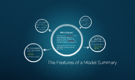 Features of a Model Summary