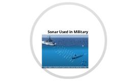 Sonar In Military