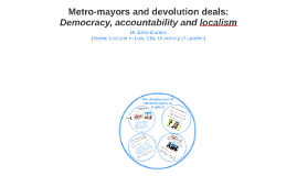 Metro-mayors and devolution deals: