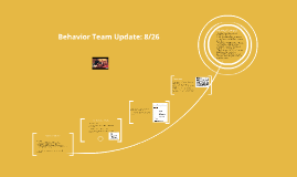 Behavior Team Update: 8/26