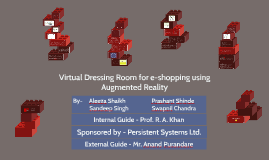 Virtual Dressing Room for e-shopping using Augmented Reality