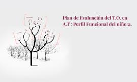 Plan de Evaluación del T.O. en A.T : Perfil Funcional del ni
