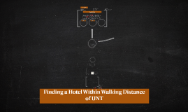 Finding a hotel walking distance of UNT