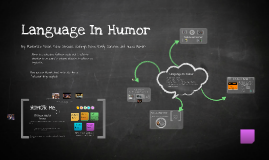 Language In Humor