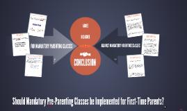 Mandatory Pre-Parenting Class