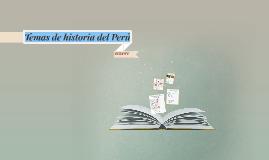 Temas de historia del Peru