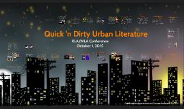 MLA/KLA Urban Fiction