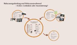 Holocaustgedenktag und Holocausmahnmal