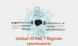 Unidad 10 RAC 7 Régimen sancionatorio