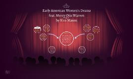Early American Women's Drama