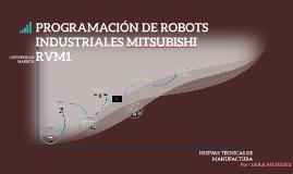 PROGRAMACIÓN DE ROBOTS INDUSTRIALES MITSUBISHI RVM1