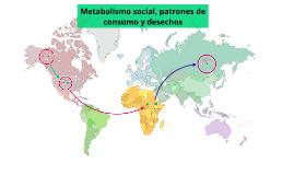Metabolismo social, patrones de consumo y desechos