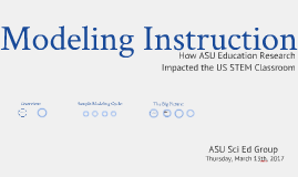 Modeling Instruction and DBER