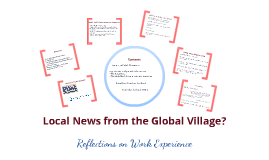 Local News from the Global Village?