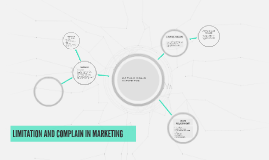 LIMITATION AND COMPLAIN IN MARKETING