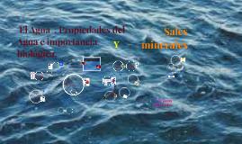 Copy of  El Agua  . Propiedades del Agua e importancia biológica.