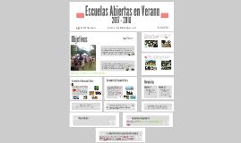 Escuelas Abiertas en Verano 2017-2018