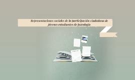 Representaciones sociales de la participación ciudadana de j
