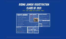 Rising 11th Grade Registration Presentation-Class of 2021