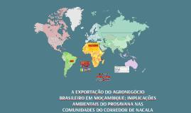 A Exportação do Agronegócio Brasileiro em Moçambique