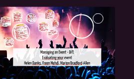 U4 Managing an Event Week 11