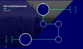 Unit 3 performance task