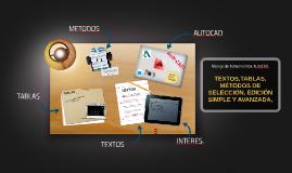 Manejo de herramientas AutoCAD.