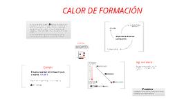 Calores de formación de reacción