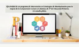 TFM Efectividad de una intervención en monitorización para la mejora de la comprensión lectora