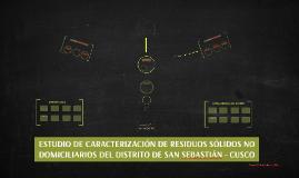 ESTUDIO DE CARACTERIZACIÓN DE RESIDUOS SÓLIDOS NO DOMICILIAR