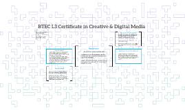 BTEC L3 Certificate in Creative & Digital Media