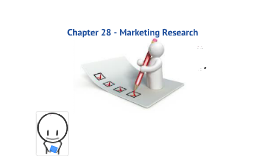 Marketing - Chapter 28 - Marketing Research
