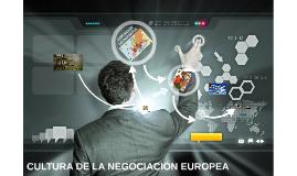 CULTURA DE LA NEGOCIACIÓN EUROPEA