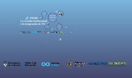 Copy of PNIDE. Nivel primario. La gestión institucional