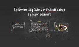 Big Brother Big Sister at Endicott College