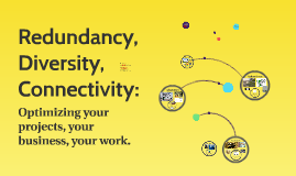 Redundancy, Diversity, Connectivity: Optimizing your project