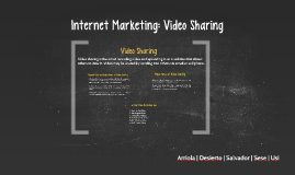 Internet Marketing: Video Sharing & Free Ads