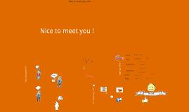 Nice to meet you !