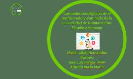 Estudio preliminar Competencias digitales en el profesorado
